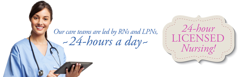 24 hour memory care RNs and LPNs